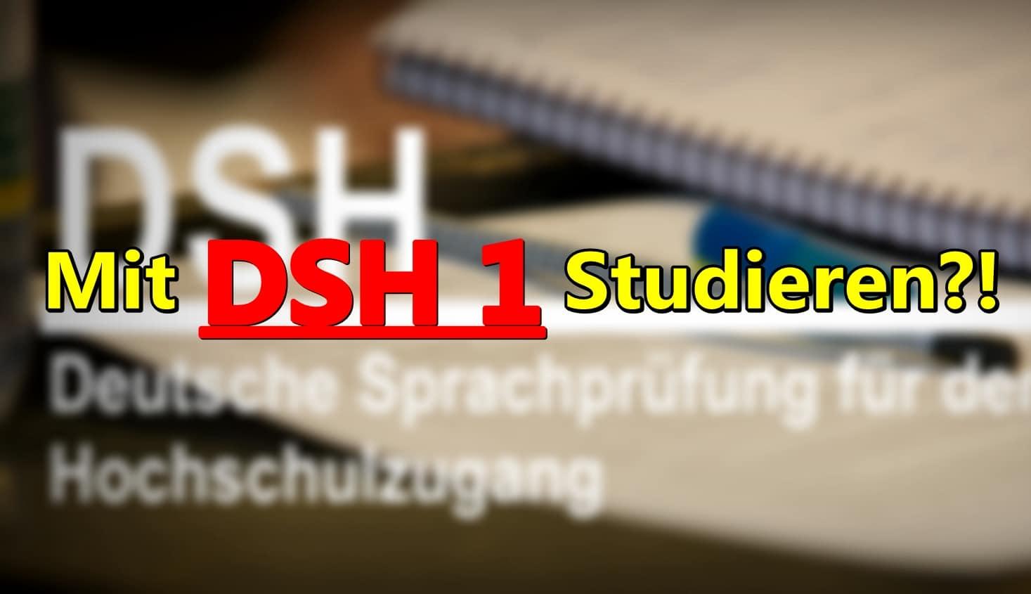 Wo kann ich mit DSH1/TestDaF3 studieren